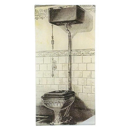 John Derian Bathroom Closet 2 Decoupage Rectangular GlassTray