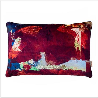 Susi Bellamy Twilight Scape Oblong Printed Velvet Cushion