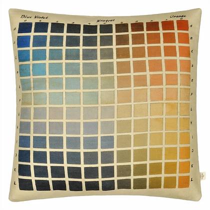 John Derian Paint Chart Azure Linen Mix Cushion