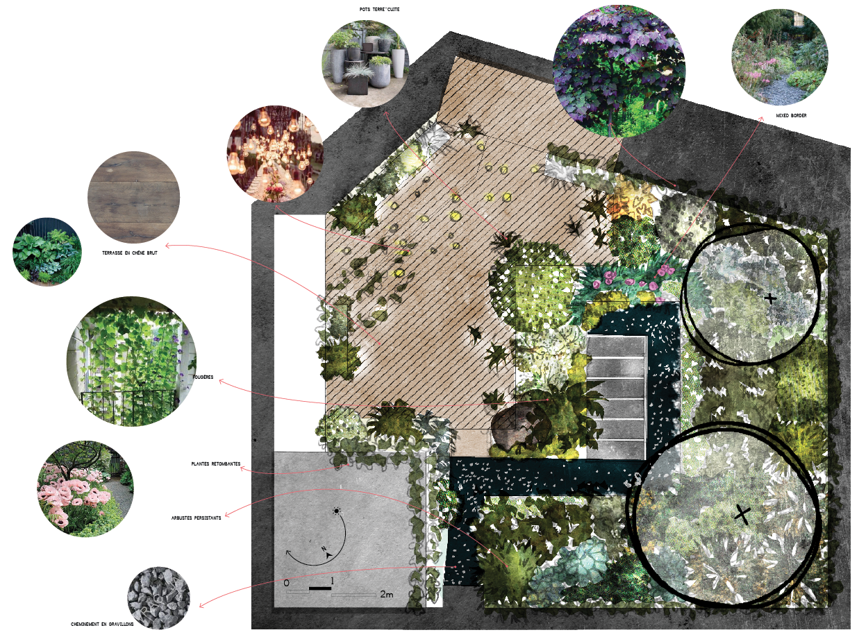 Plan masse toit terrasse