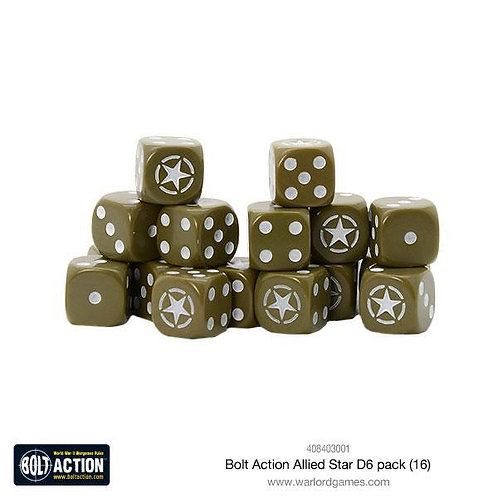 Bolt Action Allied Star D6 Dice Pack