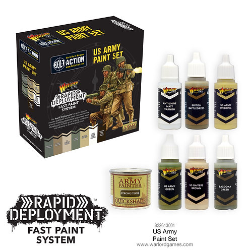 Bolt Action US Army Paint Set