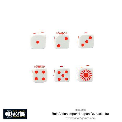 Bolt Action Imperial Japan D6 Dice Pack