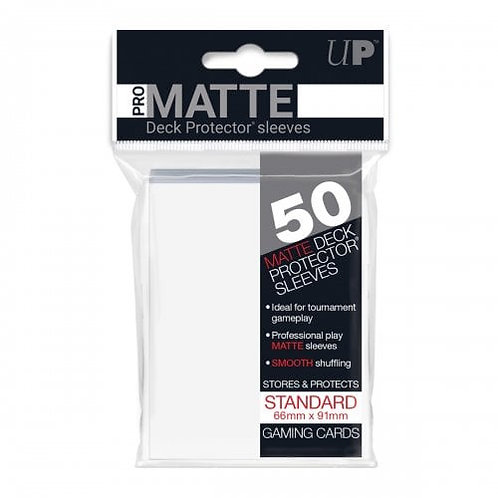 Ultra Pro 50 Pro-Matte White Standard Deck Protector Sleeves
