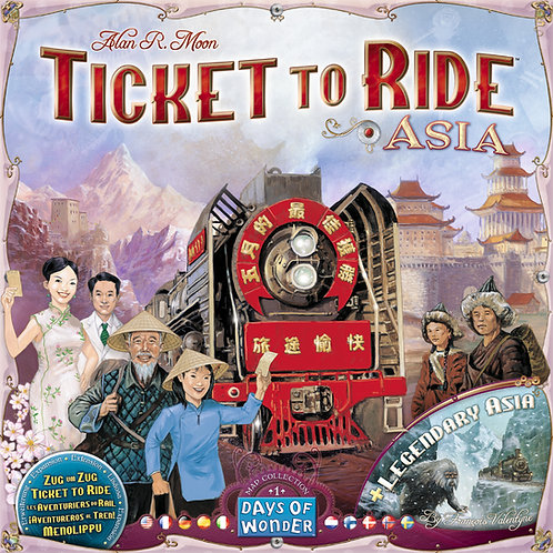 Ticket To Ride: Asia (& Legendary Asia) Map Collection