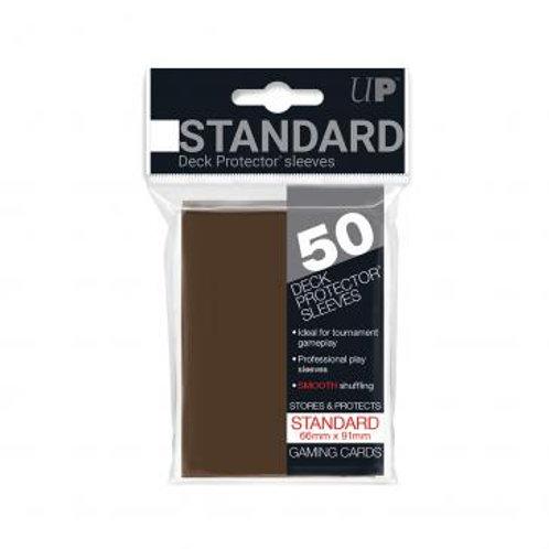 Ultra Pro 50 Standard Brown Deck Protector Sleeves