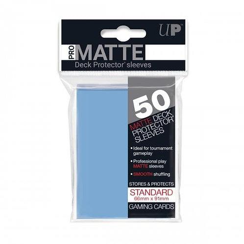 Ultra Pro 50 Pro-Matte Light Blue Standard Deck Protector Sleeves