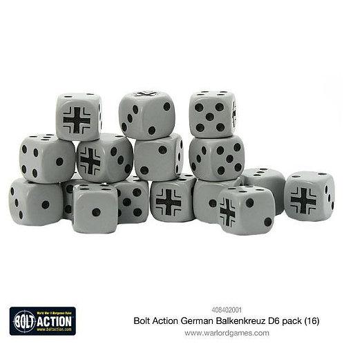 Bolt Action German Balkenkreuz D6 Dice Pack