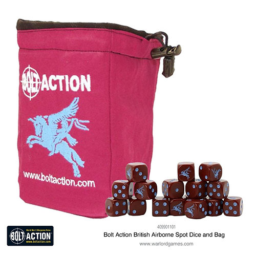 British Airborne D6 and dice bag
