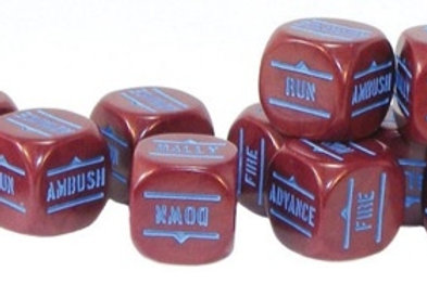 Bolt Action Maroon Order Dice