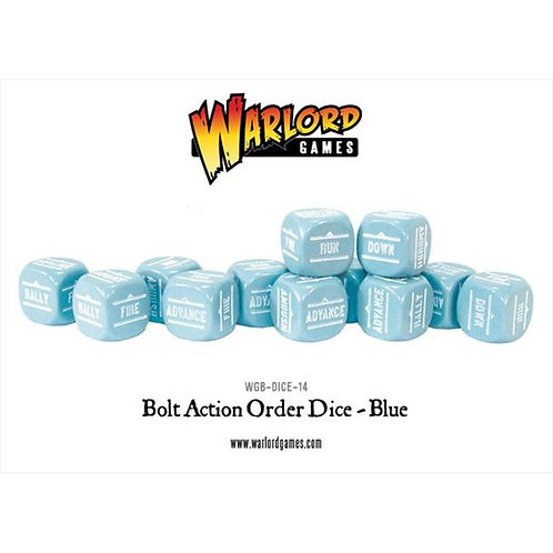 Bolt Action Blue Order Dice