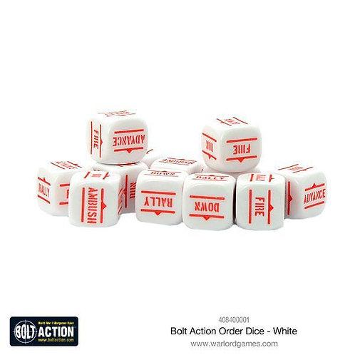 Bolt Action White Order Dice