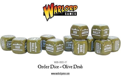 Bolt Action Olive Drab Order Dice