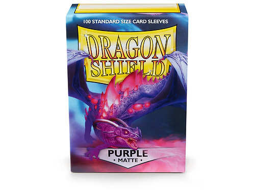 Dragon Shield Matte: Purple Standard Sleeves (100)