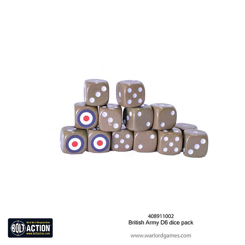 British Army D6 dice pack