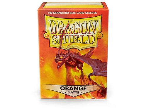Dragon Shield Matte: Orange Standard Sleeves (100)