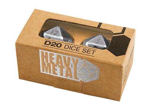 Ultra Pro Heavy Metal D20 Dice Set - Chrome
