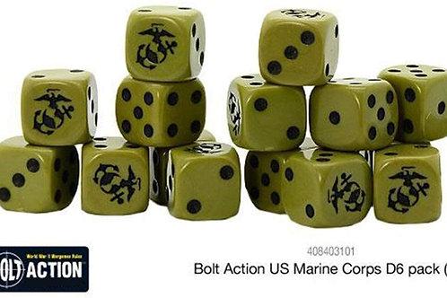 Bolt Action US Marine Corps D6 Dice Set