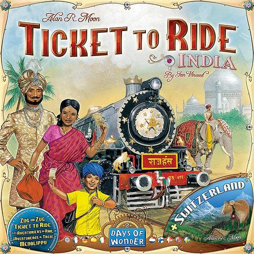 Ticket To Ride: India (& Switzerland)