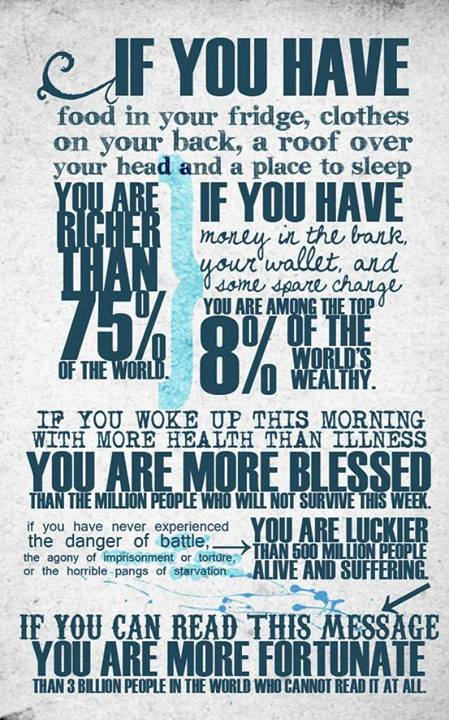You are richer than 75%