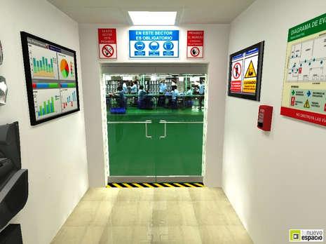 Hall Acceso Planta Industrial