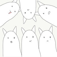 Simple white funny cats telegram stickers