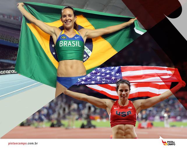 Jennifer Suhr bate recorde mundial no salto com vara e Fabiana Murer vence sua primeira competição n