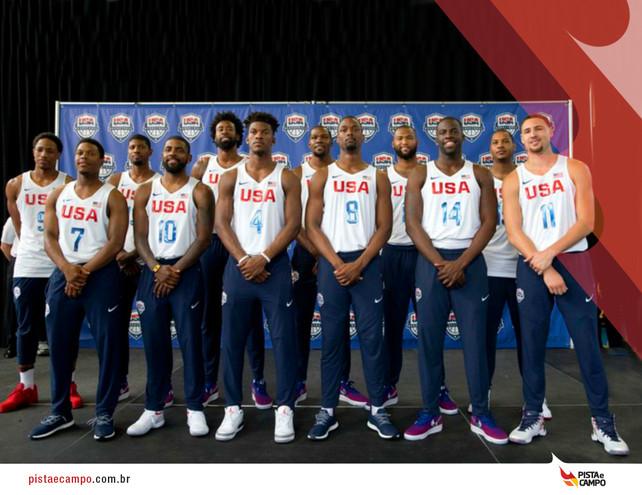 Jogadores do basquete americano se preparam para as Olimpíadas
