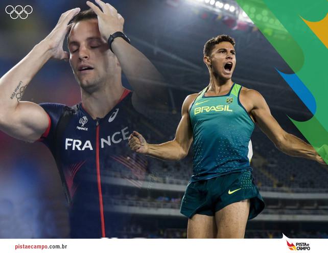 Thiago Braz supera marca de Francês Renaud Lavillenie e é ouro no Rio 2016