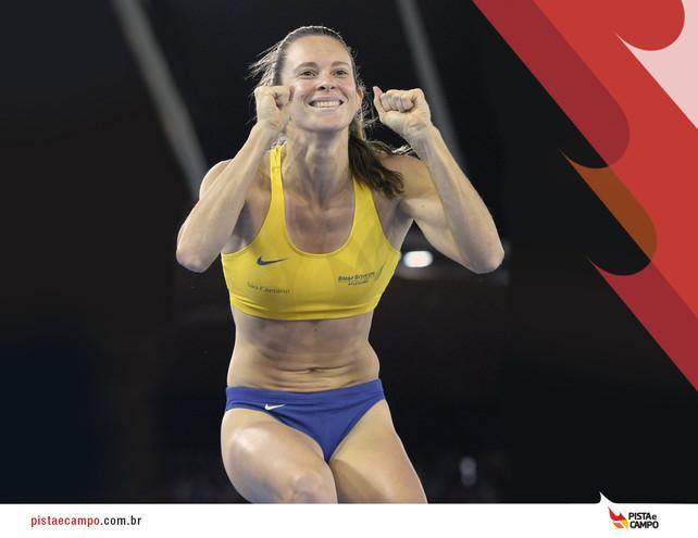 Fabiana Murer repete melhor marca do ano e ganha ouro em competição na França