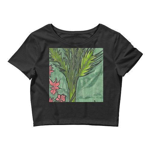 Palm Tree Women's Crop Tee