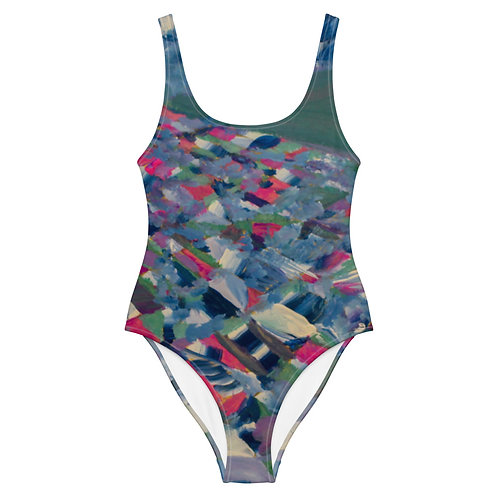 Dot One-Piece Swimsuit