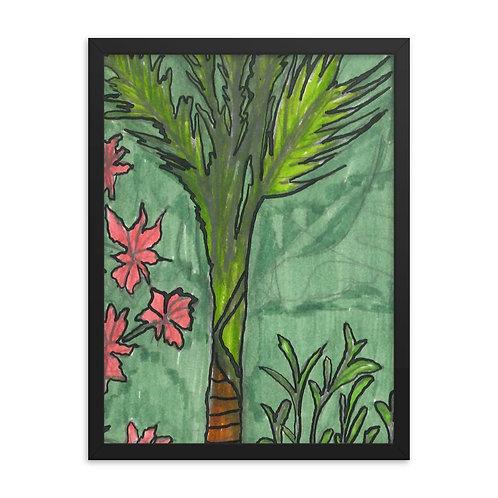 Palm Tree Framed poster