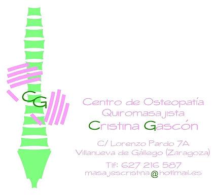 Cristina Gascón Fisioterapia