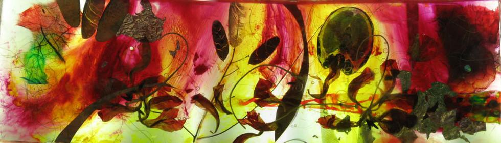 multi Laminated. Botanical glass deep
