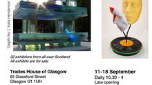 """GLORIOUS GLASS""  A joint exhibition by the Scottish Glass Society and the Contemporary Glass Societ"