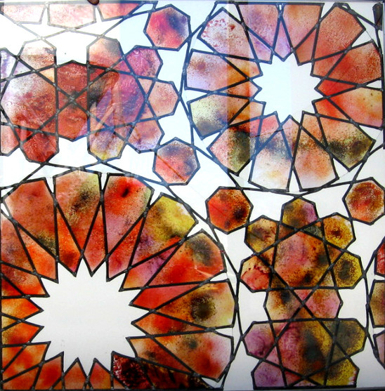 """Nazari.Stained glass. """"Puerta de Ojen Spa"""" Marbella (Spain)"""