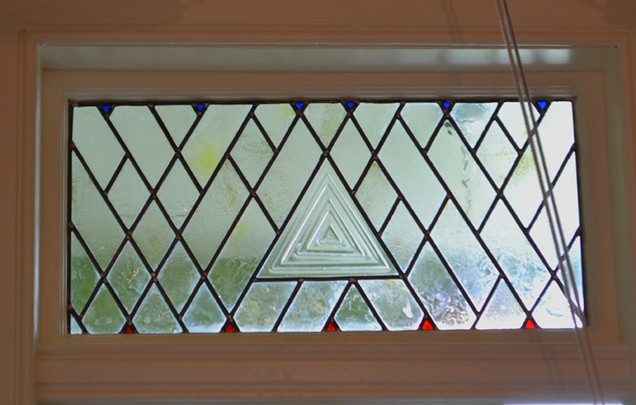 Triangles Stained glass. Forming glass a