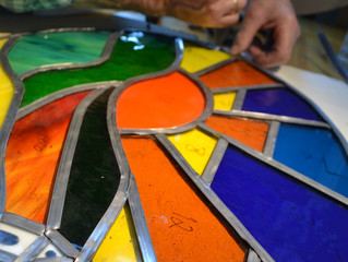 Producing more and more beautiful pieces of Stained Glass at our Workshops!