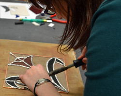 Stained glass course Edinburgh 2012