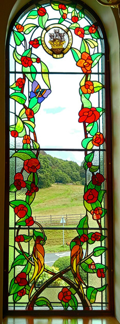 Traditional stained glass window. Edinburgh. Private commission 2021