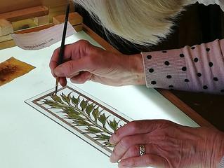 Last weekend workshop Painting on Glass