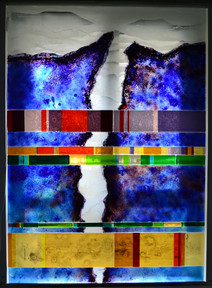 Fault Contemporary Stained glass from Gl