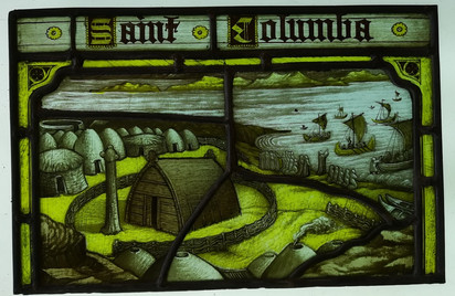 St. Columbus of Iona. Stained glass rest