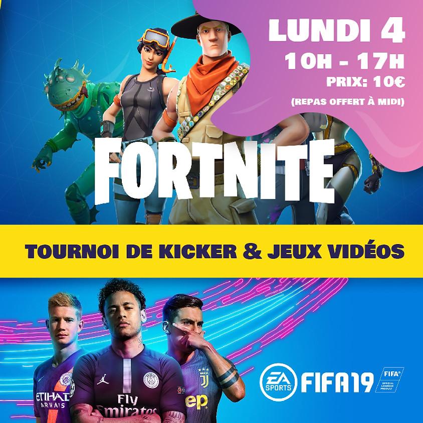 Tournoi de Kicker & jeux Vidéos