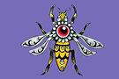 queen bee gold background PURPLE.jpg