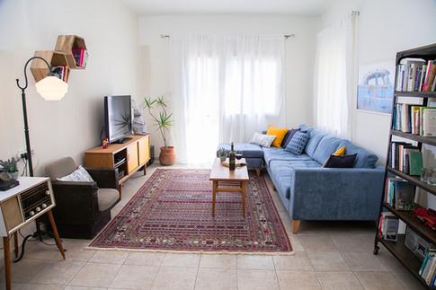 סלון בדירת רווקים