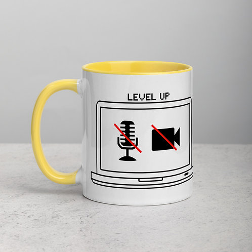 Business/Party Mug Never Give Up Level Up! Mug with Color Inside