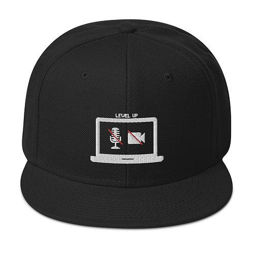 Level Up! Black Snapback Hat