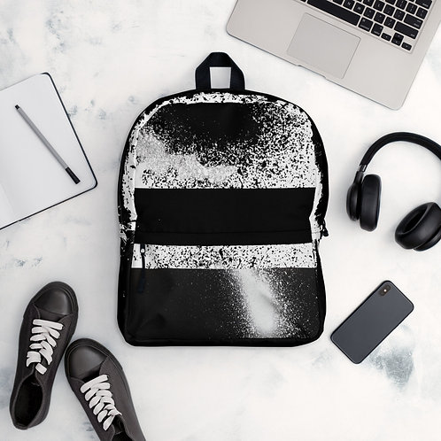 Spray Paint Black/White - Gatza - Pocket Backpack